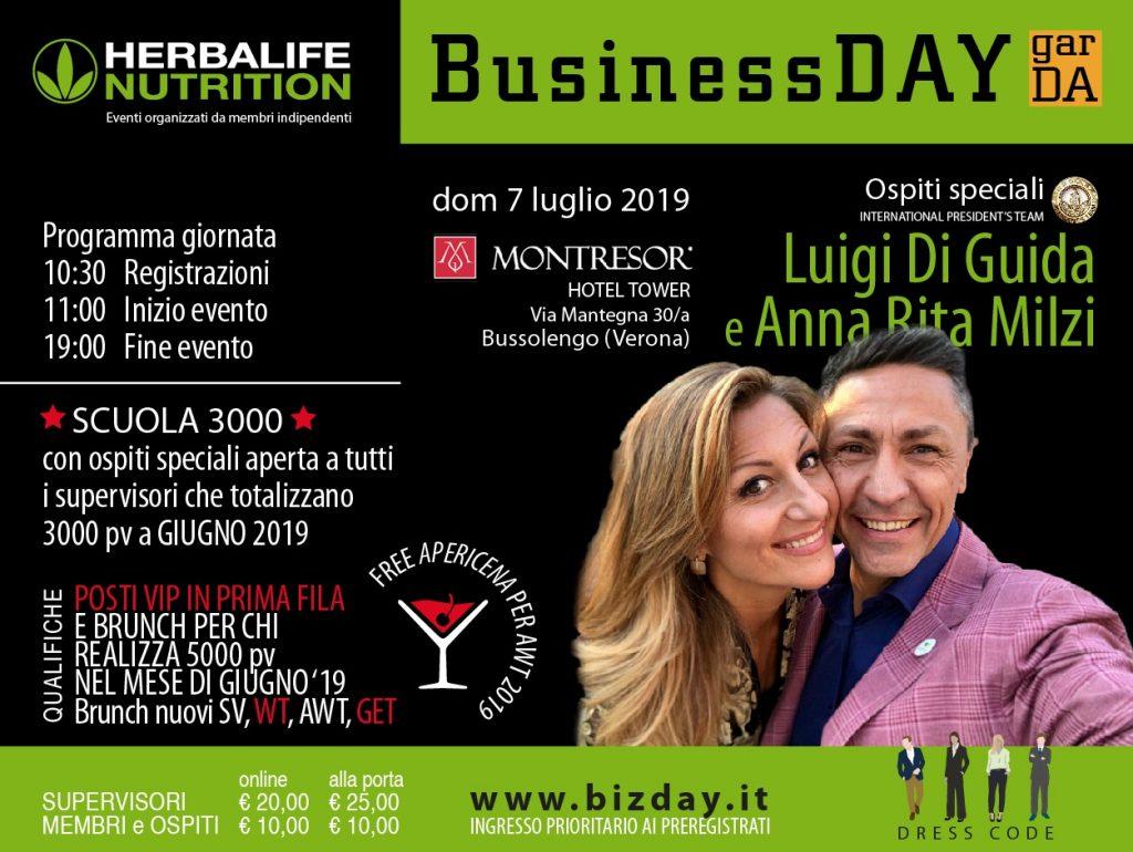 Locandina Business day 7 luglio 2019